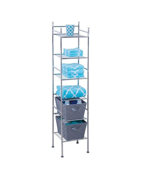 6 Tier Bathroom Storage Shelving Unit