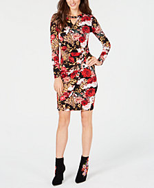 Thalia Sodi Printed Chain-Detail Dress, Created for Macy's