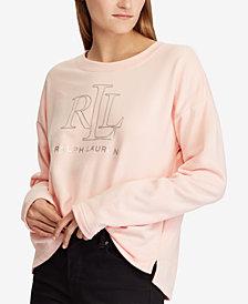 Lauren Ralph Lauren Logo Graphic French Terry Pullover
