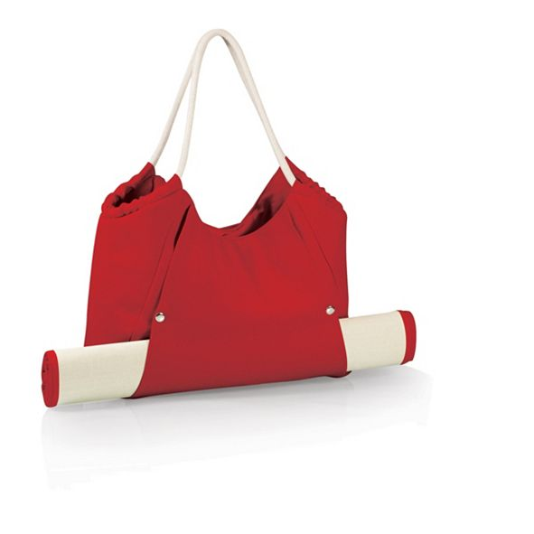 Picnic Time Oniva® by Cabo Red Beach Tote with Mat