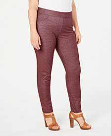 MICHAEL Michael Kors Plus Size Printed Pull-On Pants