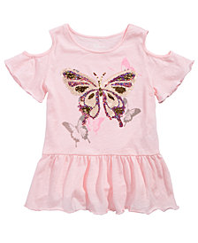 Epic Threads Big Girls Reversible Sequin Butterfly T-Shirt, Created for Macy's