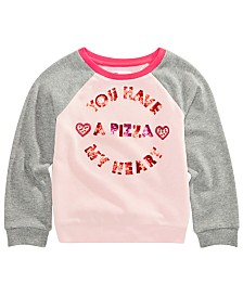 Epic Threads Little Girls Sequin-Trim Sweatshirt, Created for Macy's