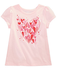 Epic Threads Little Girls Heart-Trim T-Shirt, Created for Macy's