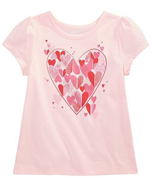 4a1678ee5ba2 Epic Threads Toddler Girls Heart-Trim T-Shirt