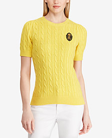 Lauren Ralph Lauren Crest Cotton Sweater