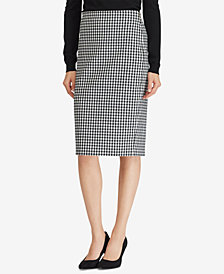 Lauren Ralph Lauren Gingham Pencil Skirt