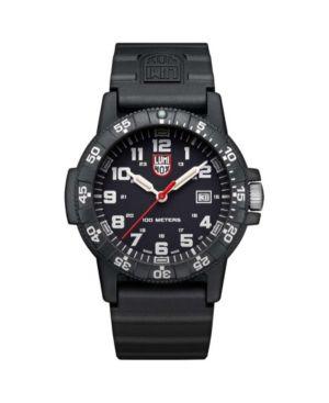 LUMINOX Men'S 0321 Sea Turtle Black Rubber Bracelet Watch in Multi
