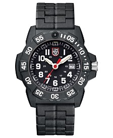 Luminox 3502 Navy SEAL Watch, Carbon Link Bracelet