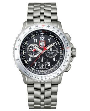 LUMINOX Men'S 9241.M F-22 Raptor Flight Calculation Chronograph Watch in Gray