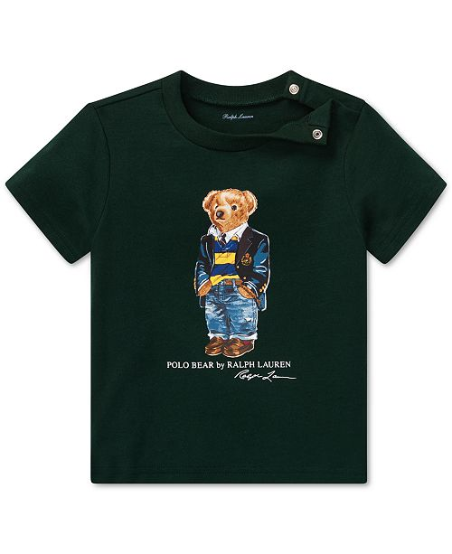 b81968bf7 Polo Ralph Lauren Baby Boys Polo Bear Cotton T-Shirt   Reviews ...