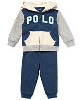 Polo Ralph Lauren Baby Boys French Terry Hoodie   Jogger Pants Set 6ecd4028c6f