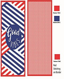 Premium High Performance Large Beach  Pool Towel Good Vibes, Red By MinxNY