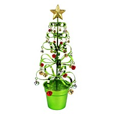 """15"""" Metal Bell Tree With Pot Decor"""