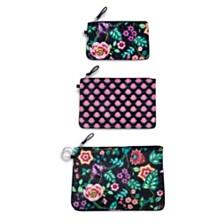Vera Bradley Vines Floral Trio Bag Set