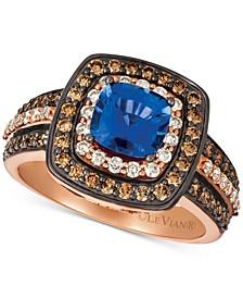 Ceylon Sapphire (1 ct. t.w.) & Diamond (7/8 ct. t.w.) Ring in 14k Rose Gold
