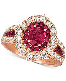 Certified Ruby (1-1/5 ct. t.w.) & Diamond (1-1/4 ct. t.w.) Ring in 14k Rose Gold