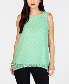 Alfani Textured Sleeveless High-Low Top, Created for Macy's