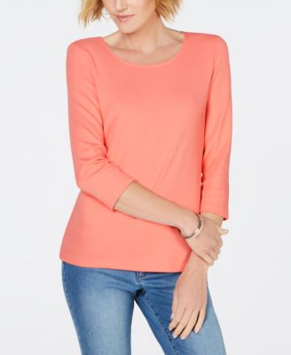Image of Karen Scott Scoop-Neck Top, Created for Macy's