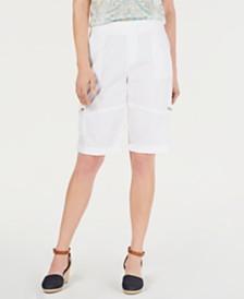 Style & Co Petite Comfort-Waist Bermuda Shorts, Created by Macy's