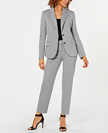 Anne Klein Two-Button Jacket & Extended-Tab Pants