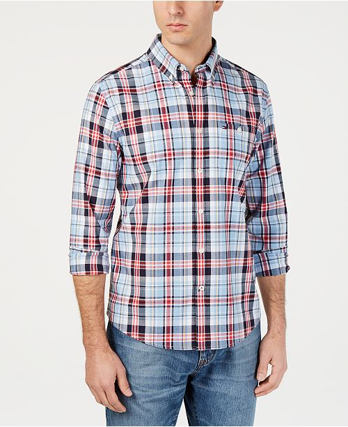 b6fe3fda Men's Jack Custom-Fit Stretch Plaid Twill Shirt, Created for Macy's ...
