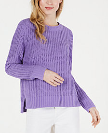 Maison Jules Matte Chenille Sweater, Created for Macy's