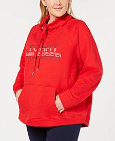 Tommy Hilfiger Sport Plus Size Funnel-Neck Logo Sweatshirt