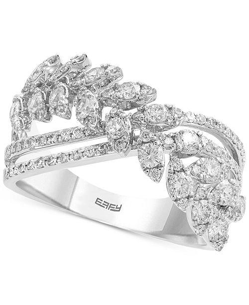 EFFY Collection EFFY® Diamond Crisscross Ring (1 ct. t.w.) in 14k White Gold