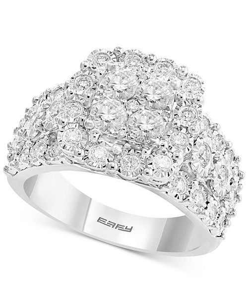 EFFY Collection EFFY® Diamond Cluster Ring (1 ct. t.w.) in 14k White Gold