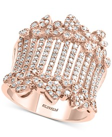 EFFY® Diamond Statement Ring (1 ct. t.w.) in 14k Rose Gold