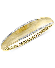 EFFY® Diamond Textured Bangle Bracelet (3/4 ct. t.w.) in 14k Gold