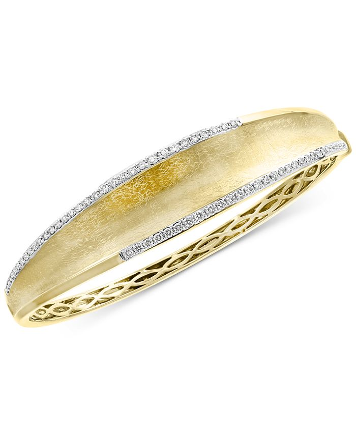 EFFY Collection - Diamond Textured Bangle Bracelet (3/4 ct. t.w.) in 14k Gold