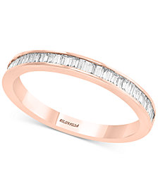 Diamond Baguette Band (3/8 ct. t.w.) in 14k Rose Gold