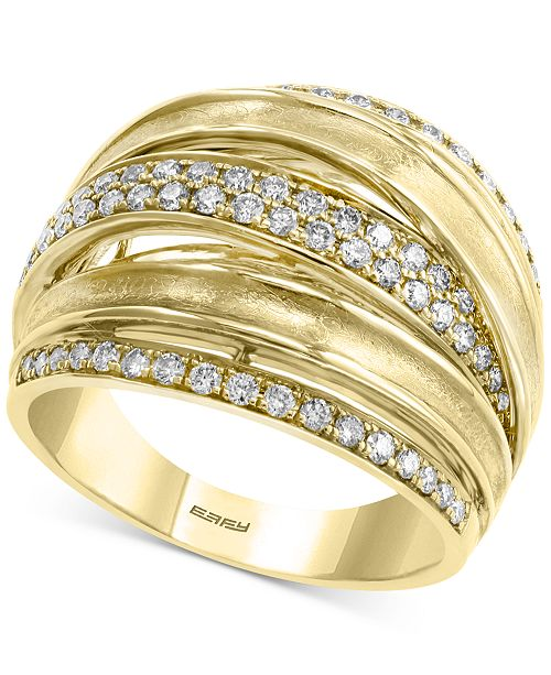 EFFY Collection EFFY® Diamond Multi-Band Statement Ring (5/8 ct. t.w.) in 14k Gold