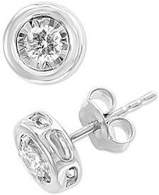 EFFY® Diamond Bezel Stud Earrings (3/8 ct. t.w.) in 14k White Gold