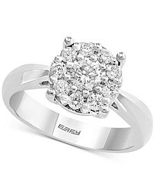 EFFY® Diamond Cluster Engagement Ring (5/8 ct. t.w.) in 14k White Gold