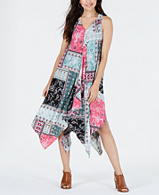 Style & Co Petite Printed Scarf-Dress, Created for Macy's