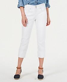 Petite Curvy-Fit Cuffed Capri Jeans, Created for Macy's