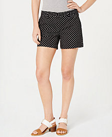Tommy Hilfiger Polka-Dot Shorts, Created for Macy's