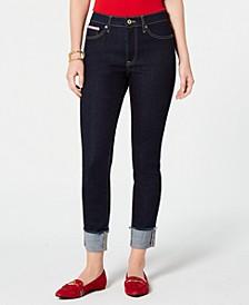 Raw-Cuff Skinny Jeans