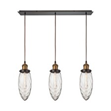 Owen 3 Light Pendant in Oil Rubbed Bronze and Antique Brass