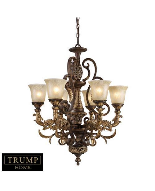 ELK Lighting Regency 6-Light Chandelier in Burnt Bronze