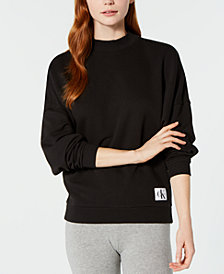 NEW! Calvin Klein Monogram Lounge Long-Sleeve Sweatshirt