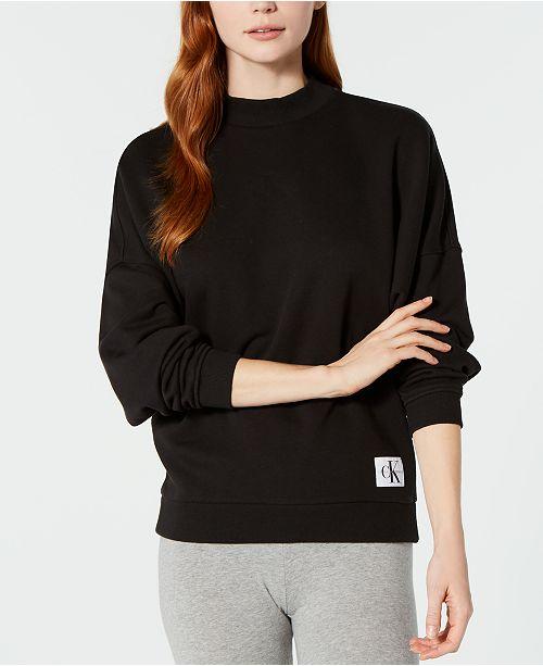 62ba0a3fcf Monogram Lounge Long-Sleeve Sweatshirt  Calvin Klein NEW! Monogram Lounge  Long-Sleeve Sweatshirt ...