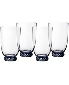 Montauk Aqua Highball Tumbler, Set of 4