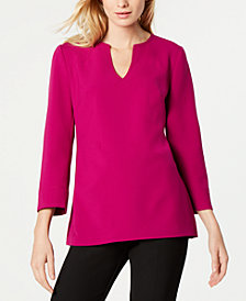 Trina Turk Rhythm Split-Neck Top
