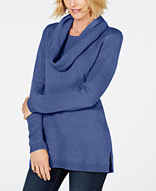 Karen Scott Infinity-Scarf Sweater, Created for Macy's