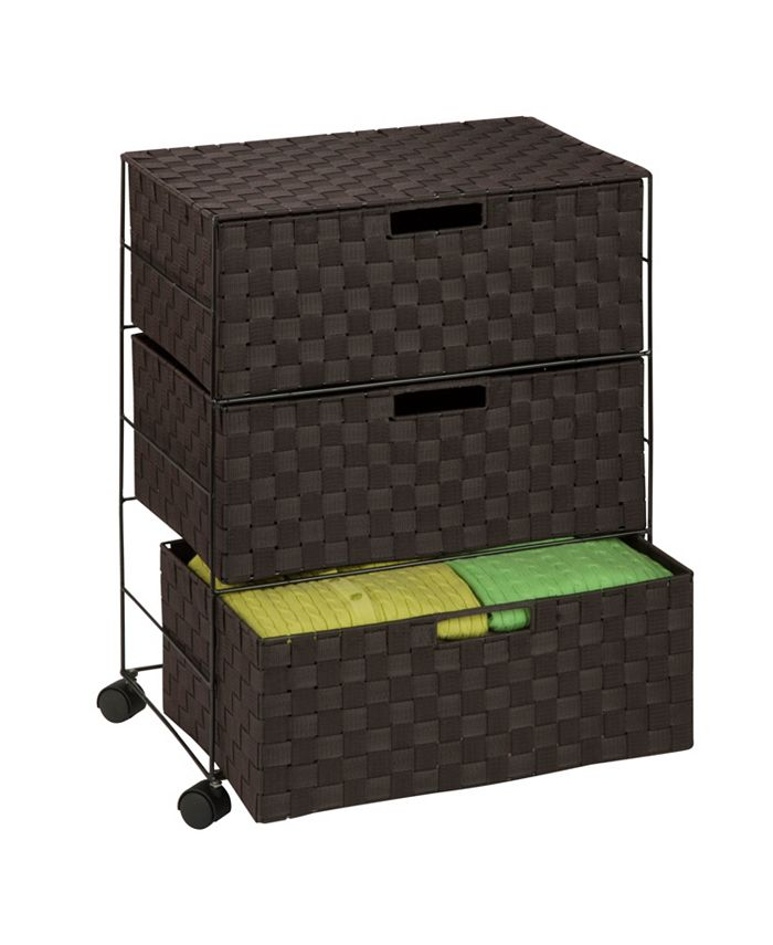 Honey Can Do - 3-Drawer Rolling Chest
