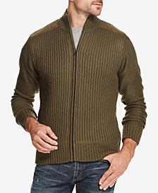Weatherproof Vintage Men's Fleece-Lined Ribbed Zip Sweater